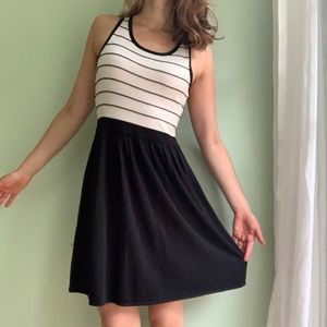 Black & White Stripe Top Dress